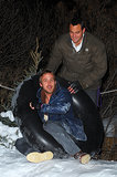 Gosling takes it to the next level while snow tubing.