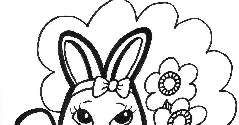 coloring pages of bunnies easter - photo#29