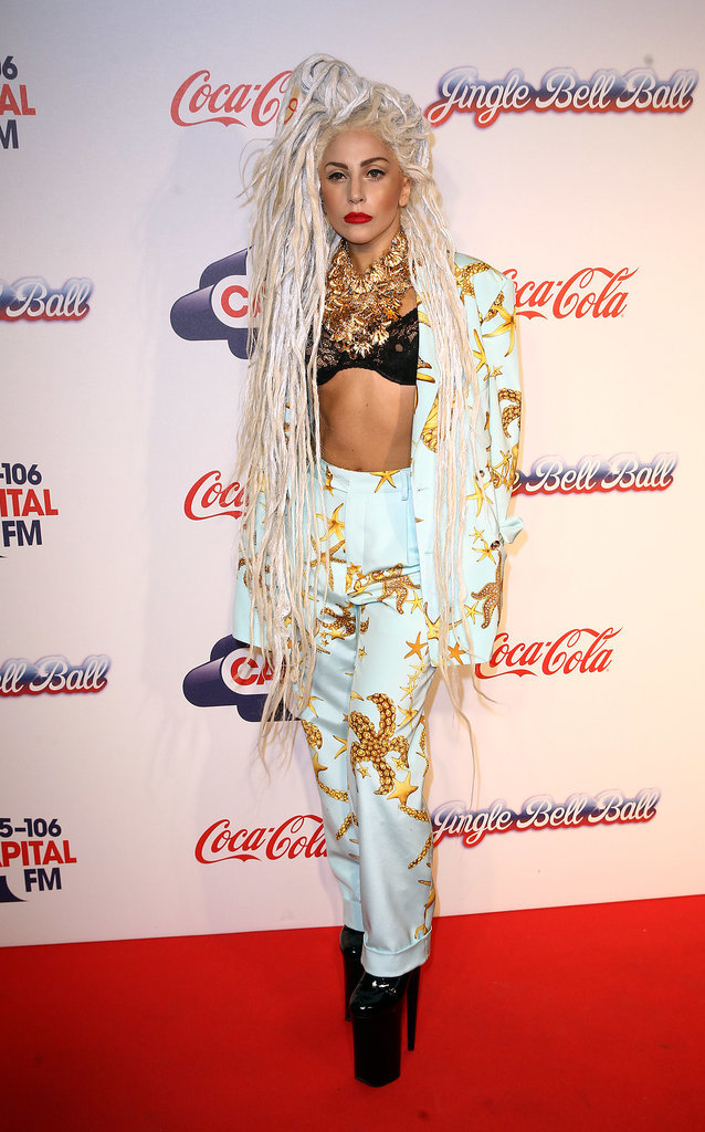 Lady Gaga in Starfish Suit at 2013 Jingle Bell Ball
