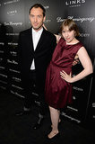 Lena Dunham played around with Jude Law on Thursday at the premiere of his new film, Dom Hemingway, in NYC.