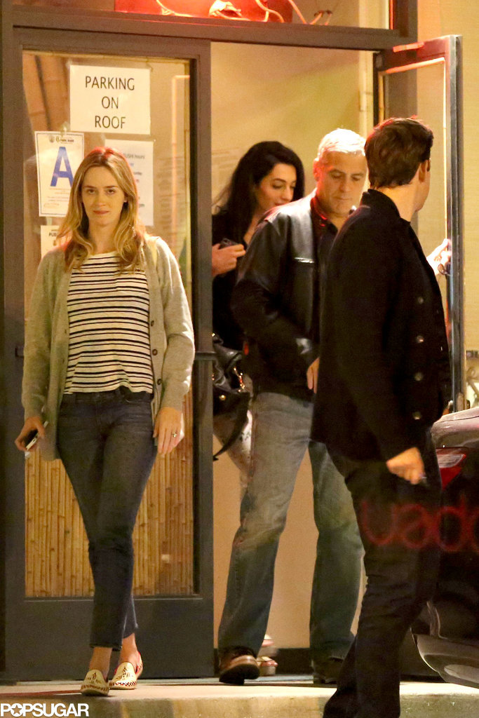 Emily, John, and George Bring a New Face to Their A-List Double Date