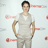 Shailene Woodley in Khaki Suit at CinemaCon | Video