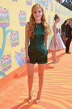 Bella Thorne wore green to the big show.