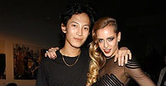 Alexander Wang with Alice Dellal.