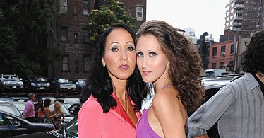 Pat Cleveland with daughter Anna Van Rubenstein.