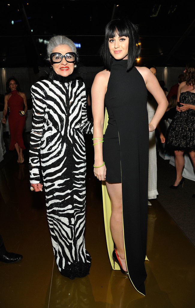 Katy Perry posed for a snap with fashionista Joy Venturini Bianchi.
