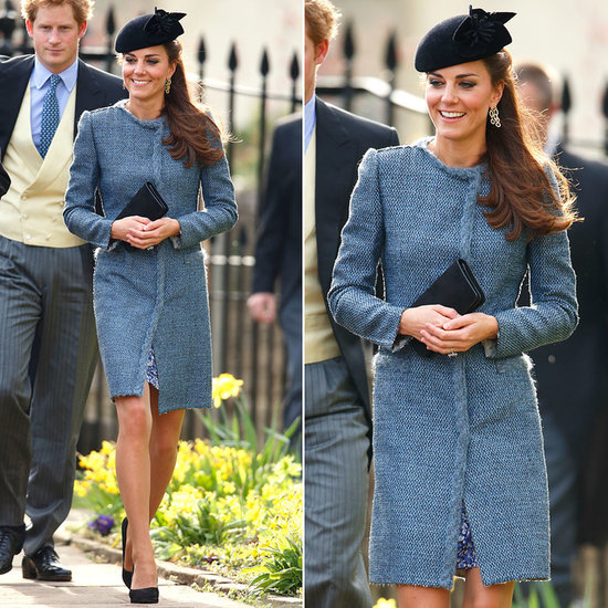 Kate Middleton Wearing Blue Missoni Coat
