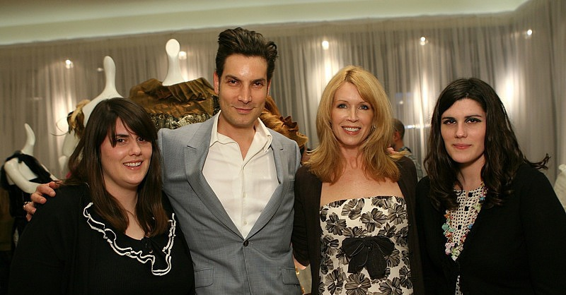 April 2007: with designers Cameron Silver & Susan Casden at a Rodarte cocktail party at Neiman Marcus