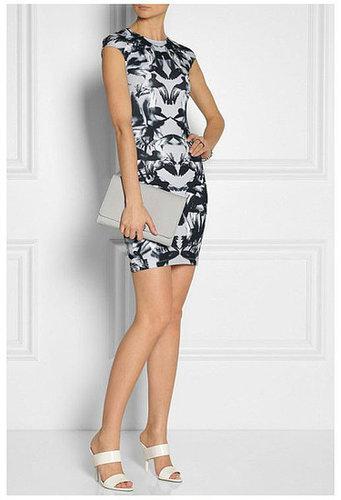 Cap Sleeve Ink Bird Print Shift Dress