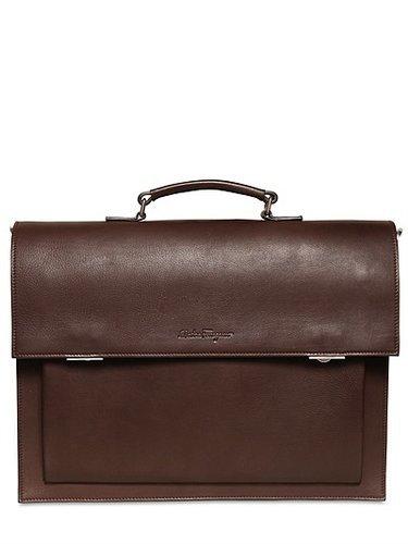 Salvatore Ferragamo - Attila Leather Briefcase/Backpack