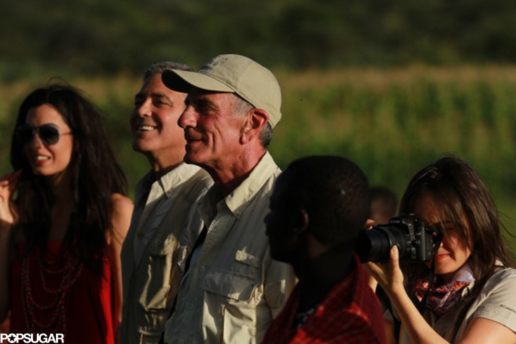 George took Amal on a safari.