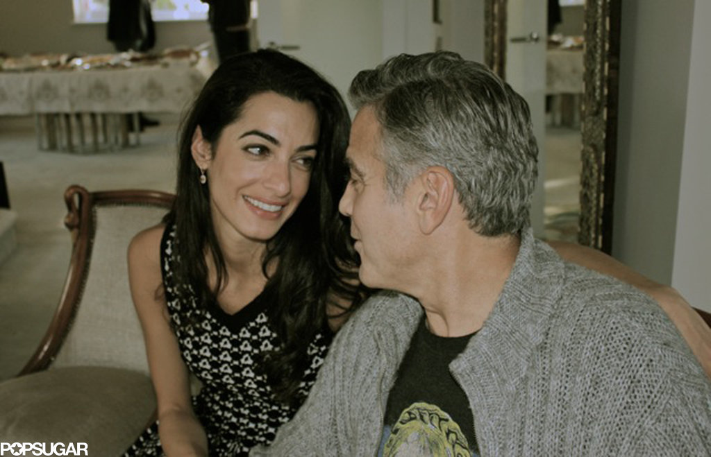 George and Amal gave each other a loving glance.