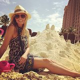 Heidi Klum built an epic sandcastle on vacation. Source: Instagram user heidklum