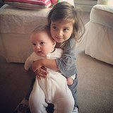 Arabella Kushner got a hold on her baby brother, Joseph, on a cozy Sunday morning. Source: Instagram user ivankatrump