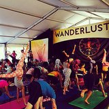 Downward dogging and handstands were the order of the day at Wanderlust on Sunday.