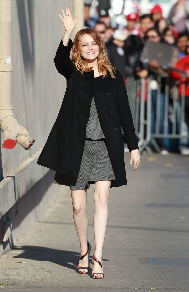 Emma Stone Has Totally Perfected the Royal Wave