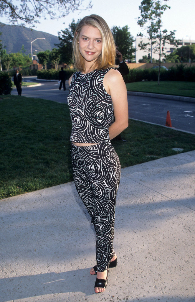 Teenage Claire Danes slipped into some wedge sandals.