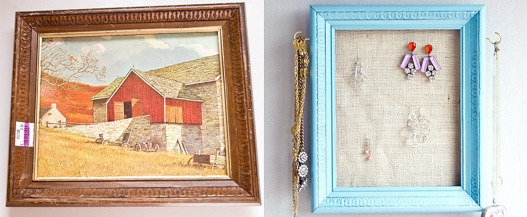 Upcycle a Picture Frame Into This Cool Jewelry Organizer
