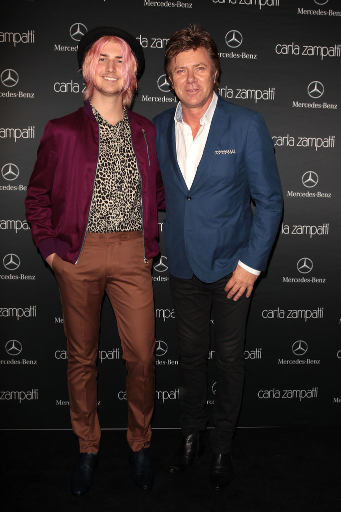 Christian and Richard Wilkins at MBFWA Day One