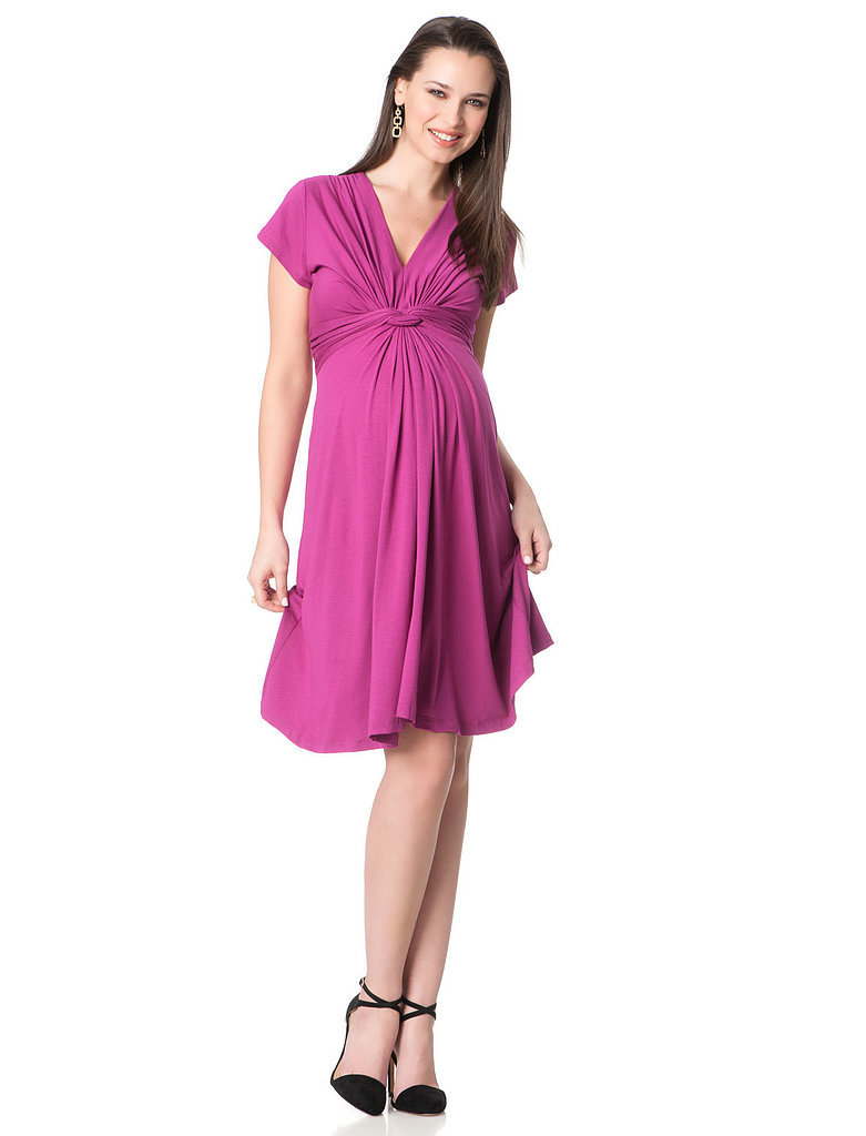 Séraphine Short Sleeve Knot Front Maternity Dress (Kate's pick! $79)