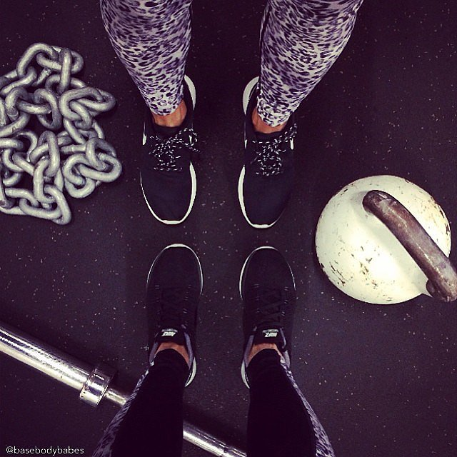 Pick up a kettlebell next time you're at the gym. Source: Instagram user basebodybabes