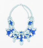 Zara blue painted rhinestone floral bib necklace ($36)