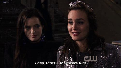 Blair Waldorf + shots = amazing.