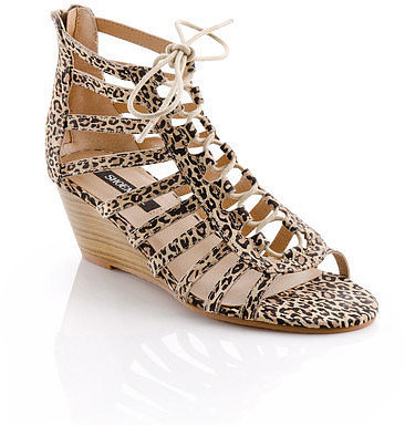 ShoeMint Printed Wedge Sandals