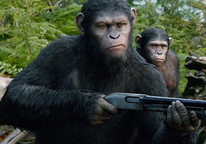 Yep, apes with guns.