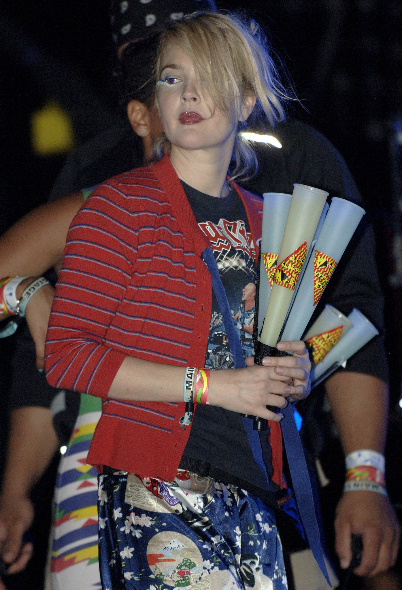 Drew Barrymore dressed up for the 2009 fun.
