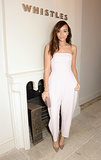 Ashley Madekwe's pretty petal-pink jumpsuit was made for a special Spring event.