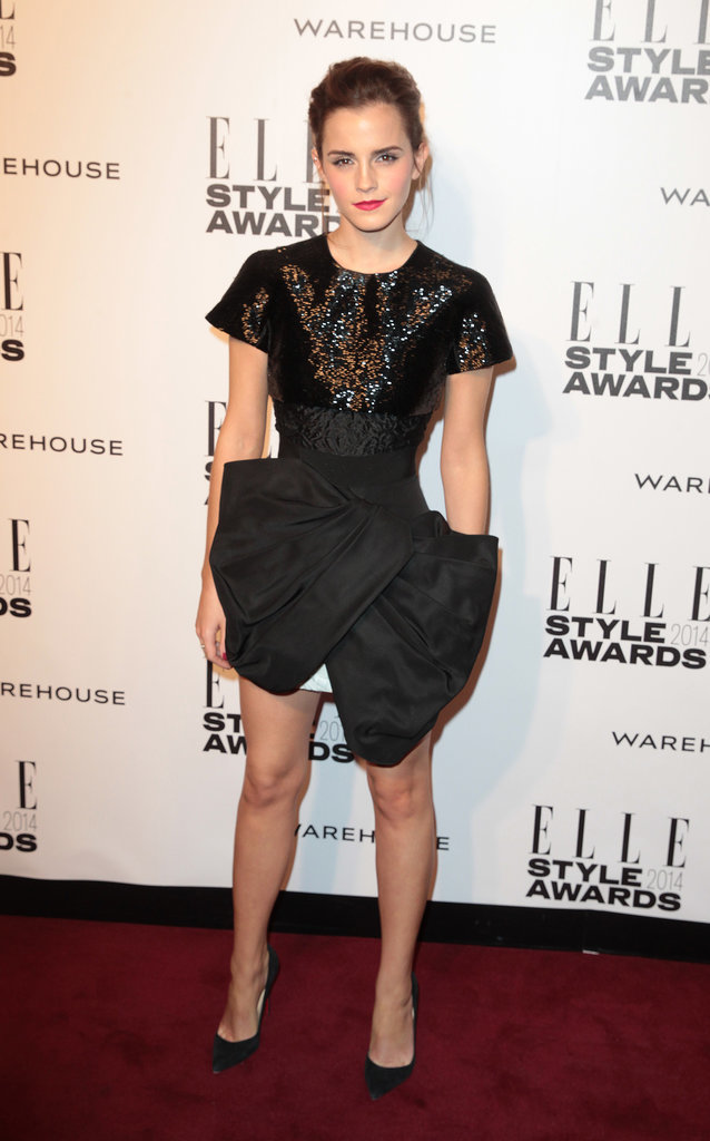 Emma Watson in Giambattista Valli Haute Couture at 2014 Elle Style Awards