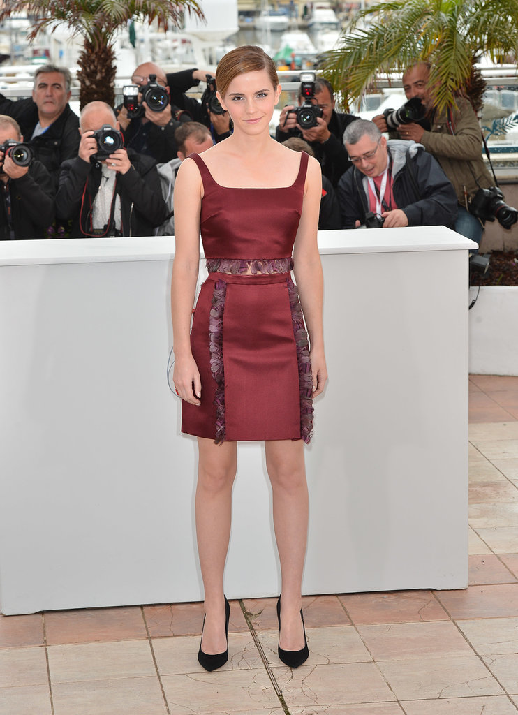 Emma Watson in Christopher Kane at 2013 Cannes Film Festival
