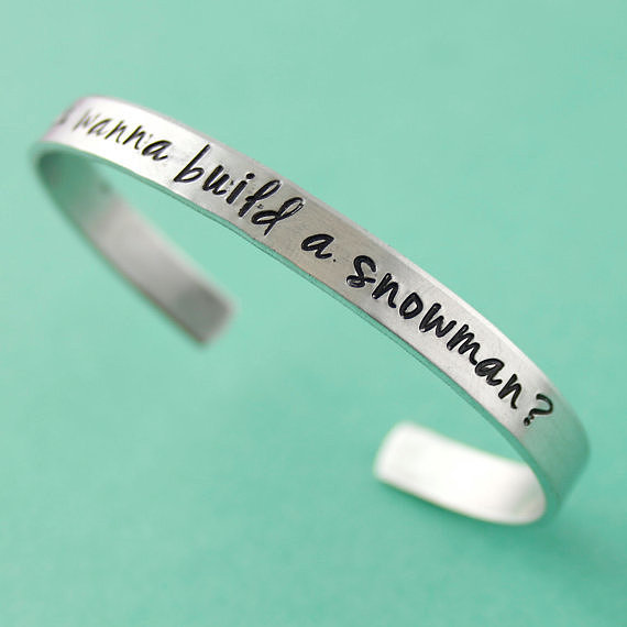 Do You Wanna Build a Snowman? Cuff Bracelet