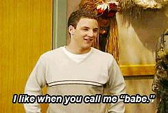 "And he's Topanga's ""babe."""