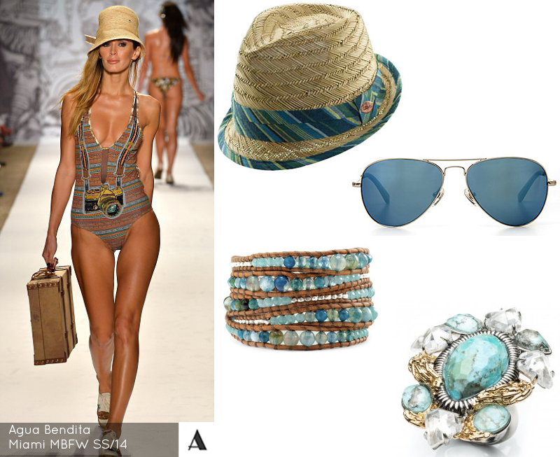 Agua Bendita Miami Mercedes Benz Fashion Week SS/14 Panama Jack C Wonder Chan Luu Alexis Bittar Blue Green Summer Accessories 4 Must Haves