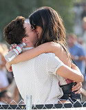 Shenae Grimes and her husband, Josh Beech, packed on the PDA.