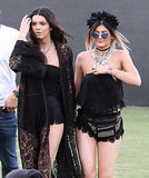 Kendall and Kylie Jenner wore all black.