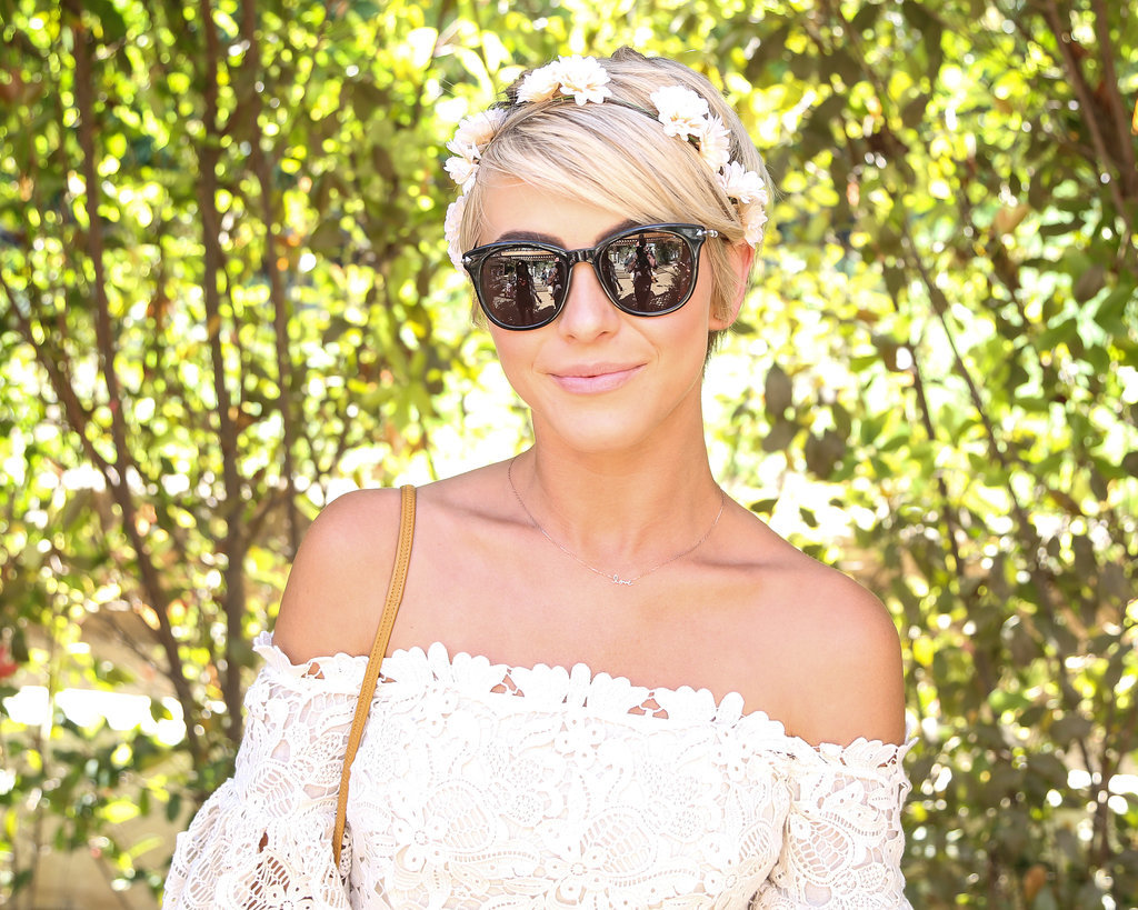 Julianne Hough rocked a flower crown.