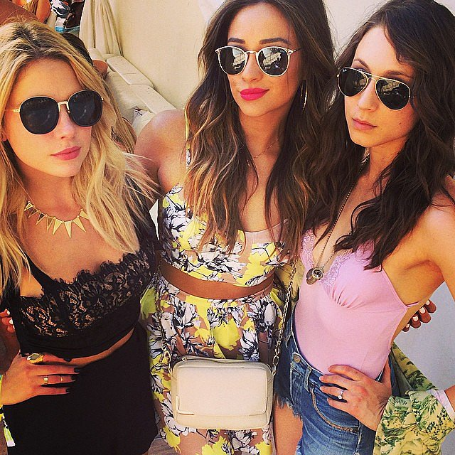 Ashley Benson, Shay Mitchell, and Troian Bellisario from Pretty Little Liars met up at the festival. Source: Instagram user itsashbenzo