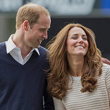 Prince William and Kate Middleton Cute Pictures on Tour 2014
