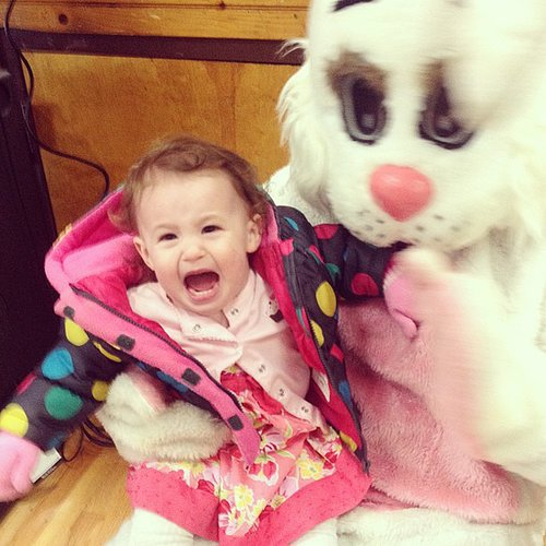 Hilarious Photos of Kids Scared of the Easter Bunny