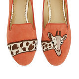 Giraffe Suede Smoking Slippers ($138)