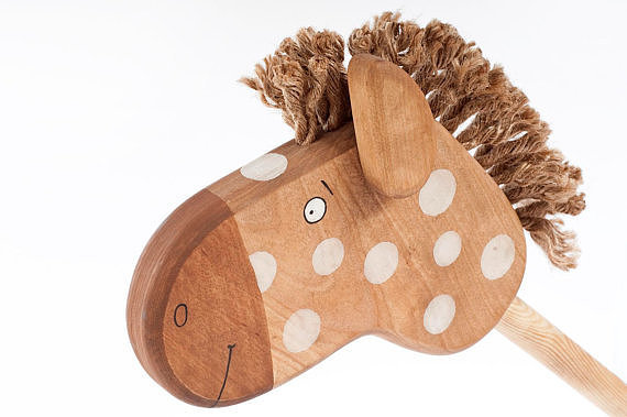 For a Surprise: Friendly Toys Wooden Hobbyhorse