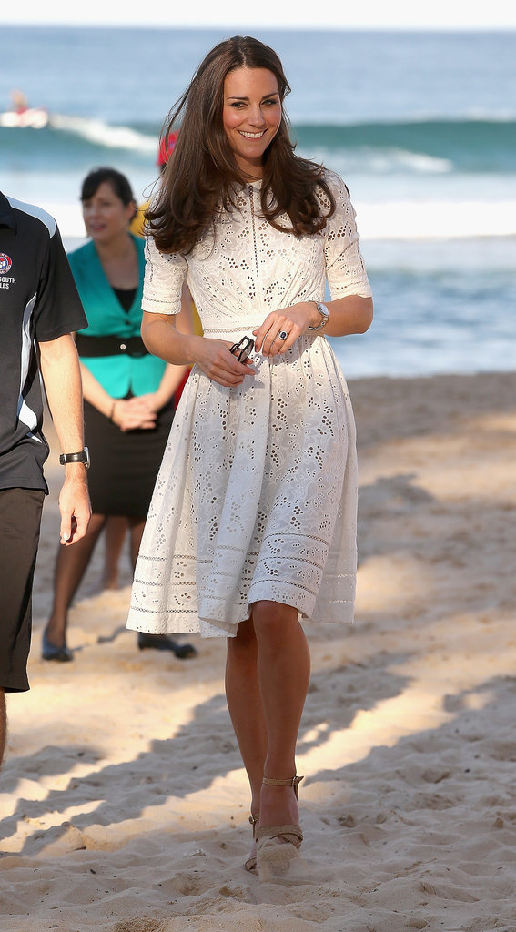 Kate Middleton in a White Dress