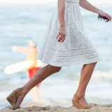 Kate Middleton in Stuart Weitzman Cork Wedges