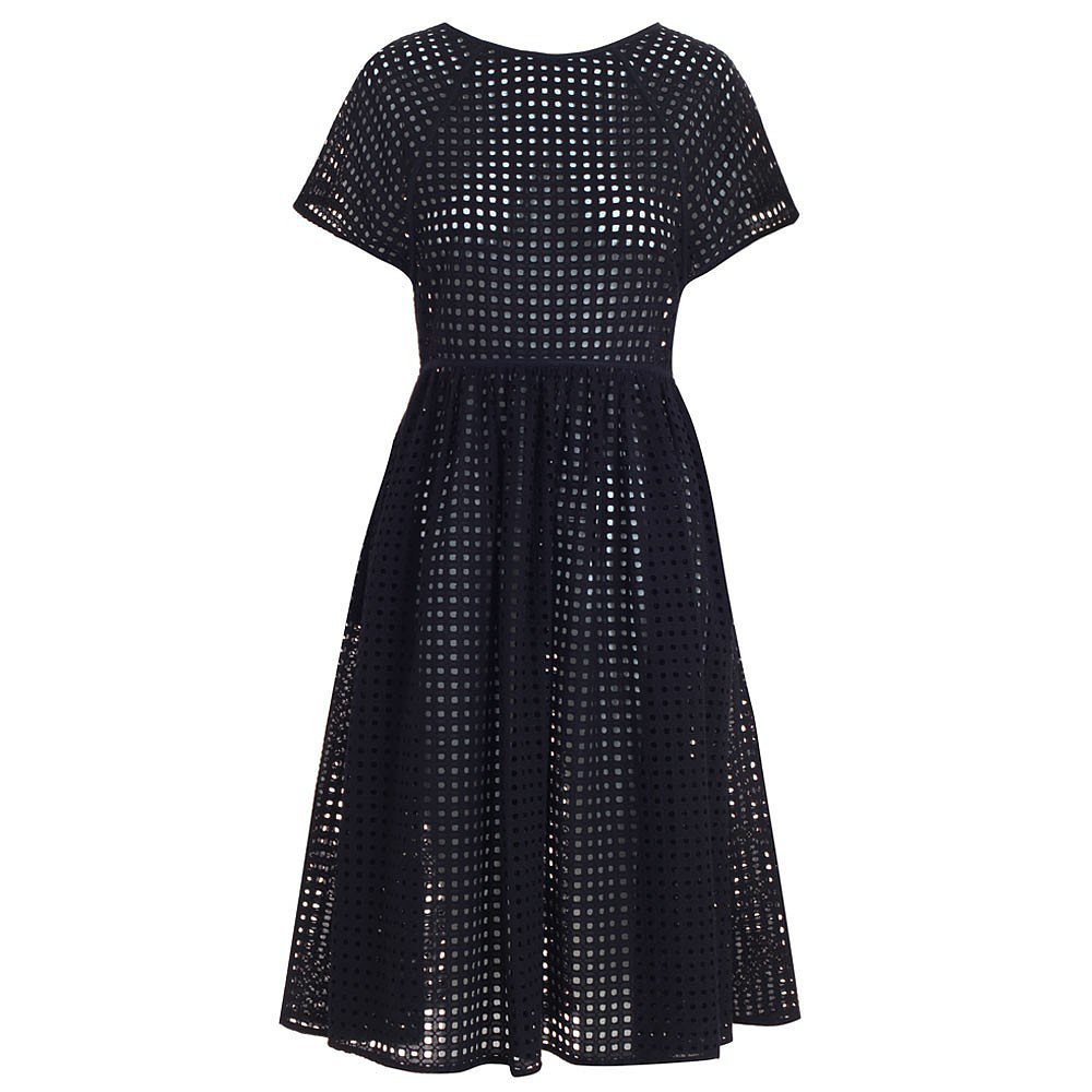 Zimmermann Black Eyelet Dress