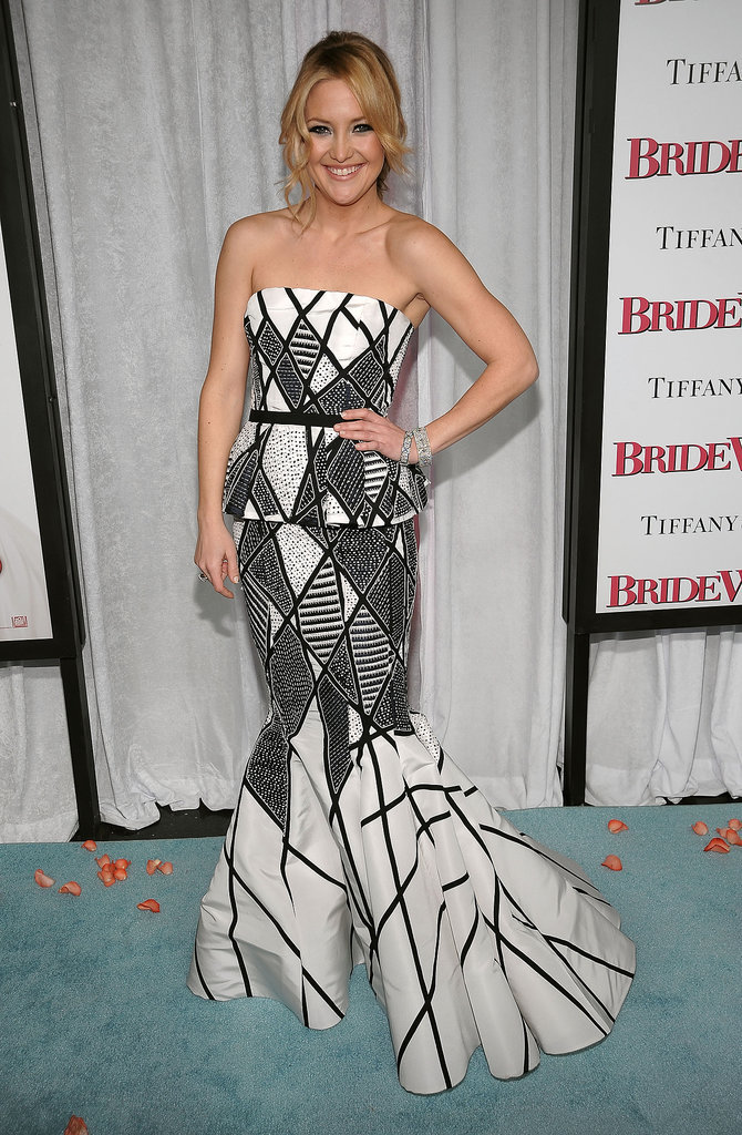 Kate Hudson in Oscar de la Renta at the 2009 Bride Wars NYC Premiere