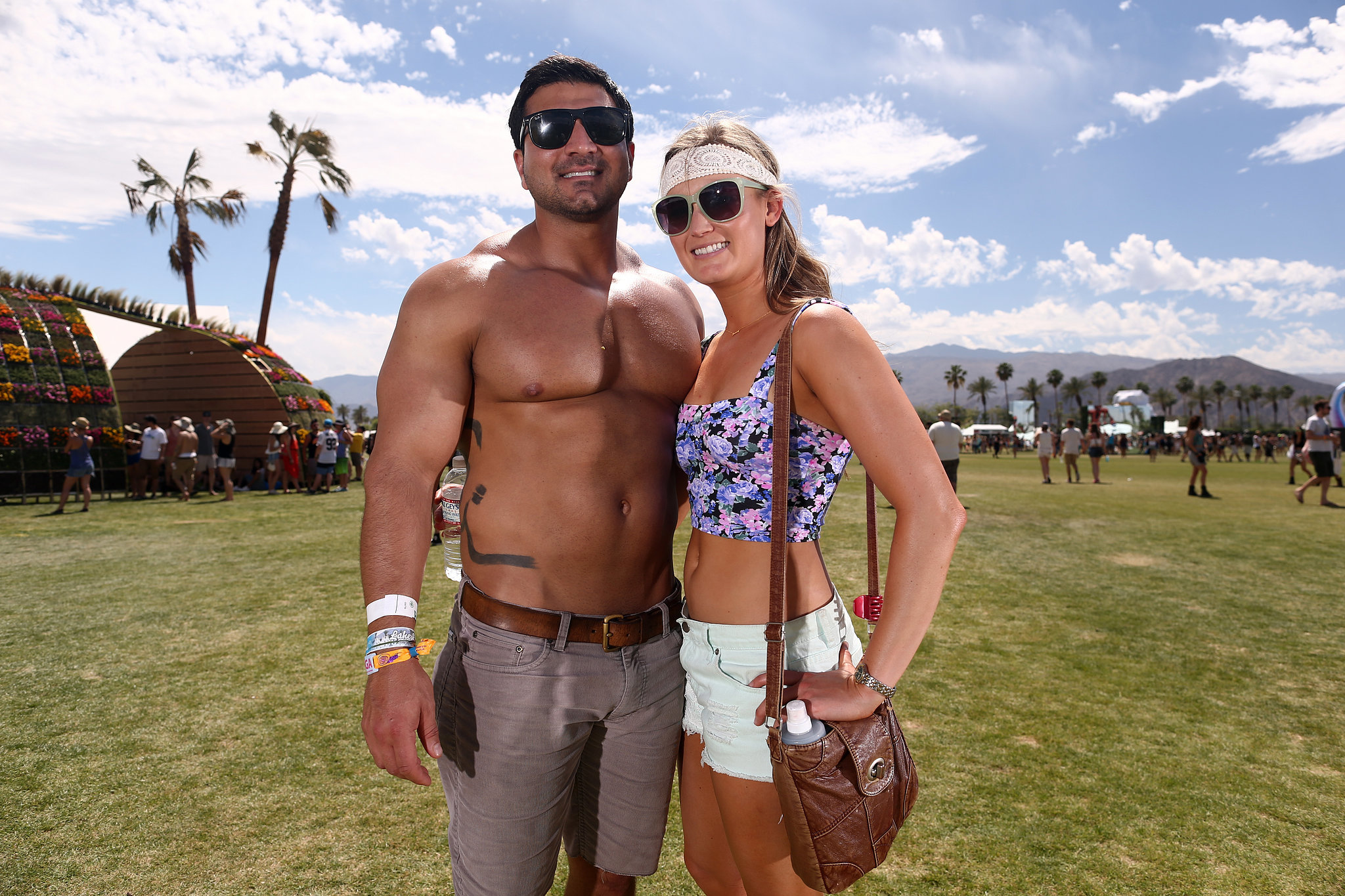 A pair posed at Coachella this year.