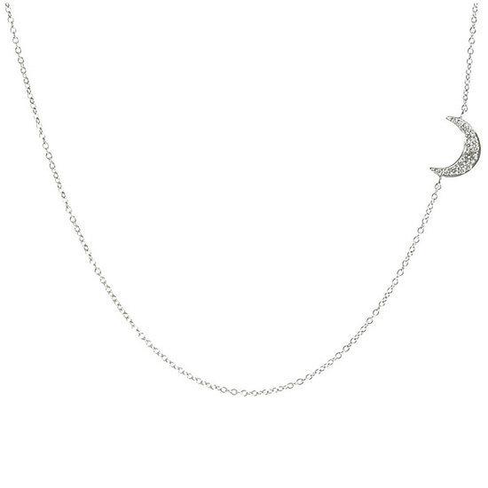 Finn Diamond Moon Necklace, Barneys